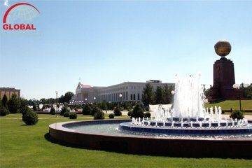 Independence square in Tashkent