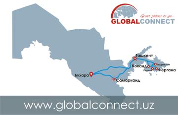 Маршрут тура для Солнечный Узбекистан