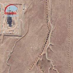 Кяриз в Нурате. Снимок из спутника